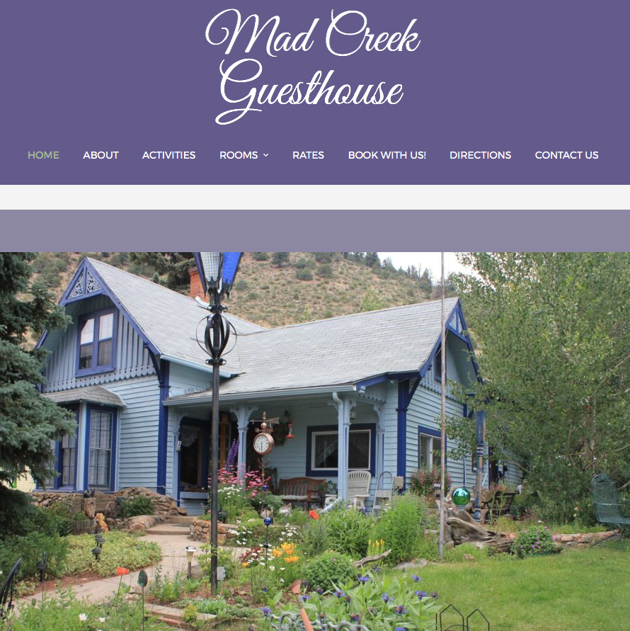 Mad Creek Guesthouse is as cozy as any bed and breakfast or inn and more personal and homey than a hotel.  With it being only a 45-minute drive from Denver, it offers all the amenities of the Rockies as well as being close to the many events and activities in Denver and Boulder.
